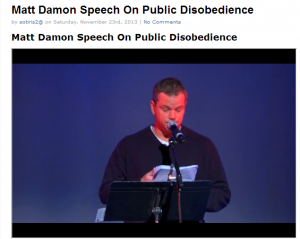 matt Damon Speech
