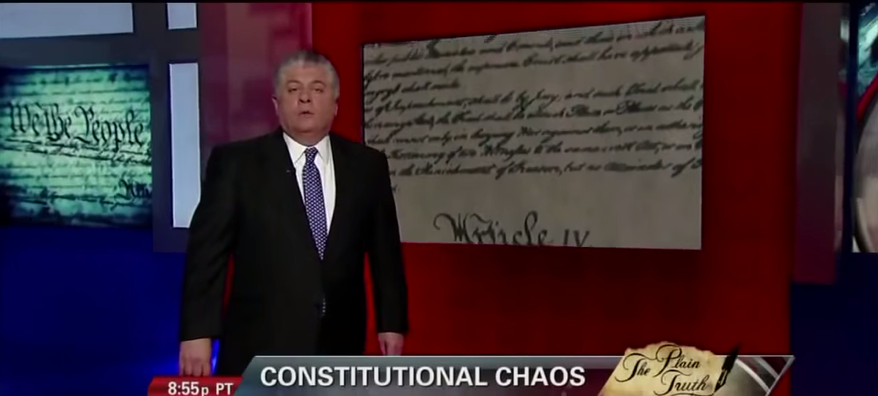 5 Minute Speech that Got Judge Napolitano Fired from Fox News